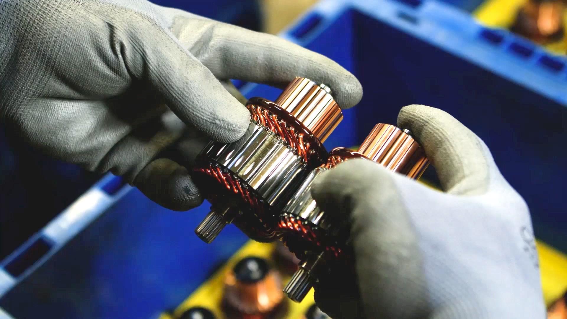 对两台乘用车起动机电枢进行质量检测