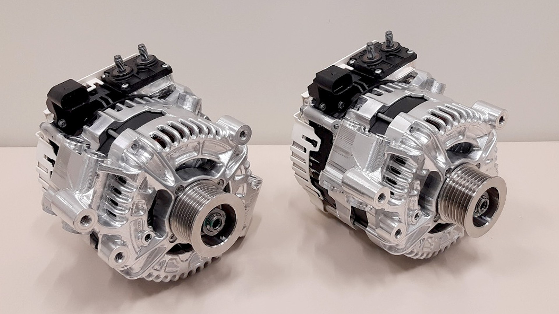 A pair of 48V Boost Recuperation Machines (BRM), Version 2.8 development samples