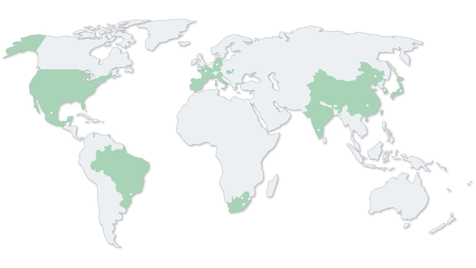 World map with SEG Autmotive locations